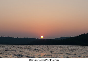 pôr do sol, imagem