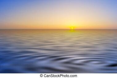 pôr do sol, paisagem