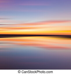 pôr do sol, reflexão, coloridos