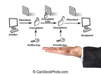 público, llave, codificación