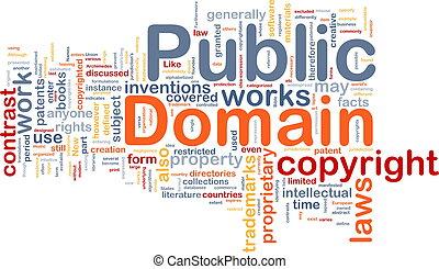 público, plano de fondo, concepto, dominio