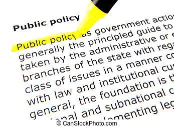 público, política