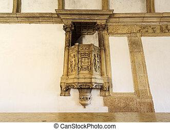 púlpitos, refectorio, vista