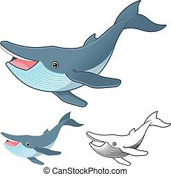 púpos ember bálnavadászat, karikatúra