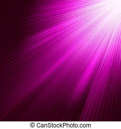 púrpura, 8, luminoso, eps, rays.