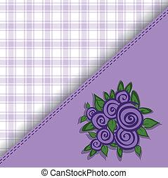púrpura, A cuadros, Plano de fondo