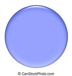 púrpura, botón, circular, 3d, gel