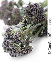 púrpura, bróculi