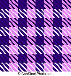 púrpura, cheque, tela