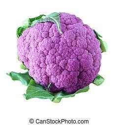 púrpura, coliflor