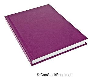 púrpura, cubierta de libro