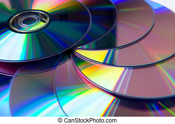 púrpura, dvd, rewritable, colección, pila
