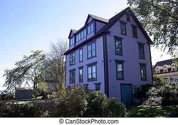 púrpura, edificio