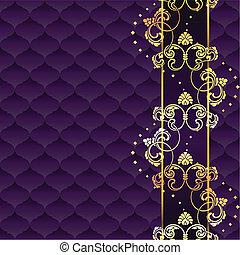 púrpura, elegante, rococó, plano de fondo
