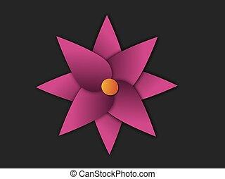 púrpura, flor