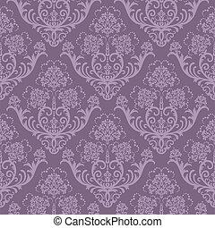 púrpura, floral, papel pintado, seamless