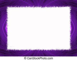 púrpura, fractal, copia, frontera, espacio