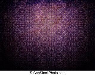 púrpura, grunge, plano de fondo, con, patrón