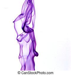 púrpura, humo