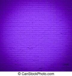 púrpura, pared, ladrillo, textura