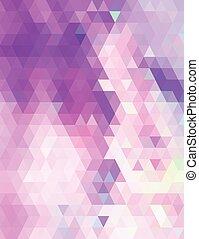 púrpura, pastel, triángulos, patrón