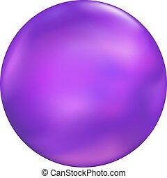 púrpura, pelota, ilustración