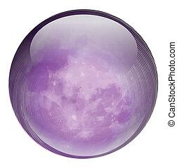 púrpura, pelota, redondo