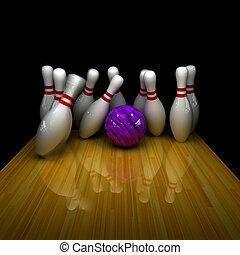 púrpura, pelota, strike!