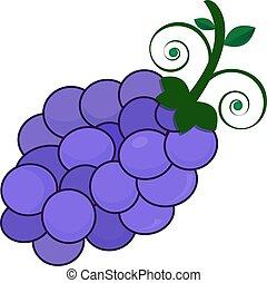 púrpura, permisos de uva, ser, bastante, corte