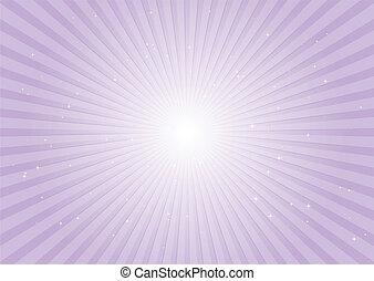 púrpura, rayos, plano de fondo, radial