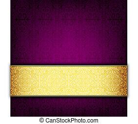 púrpura, resumen, tarjeta, celebración