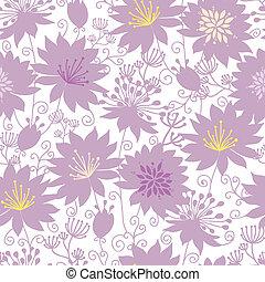 púrpura, sombra, florals, seamless, patrón, plano de fondo