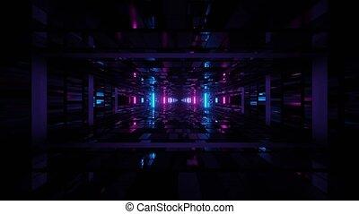 pętla, vj, jarzący się, przestrzeń, 3d, uhd, 4k, cyber, ...
