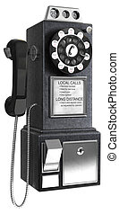 płacić, 50\'s, telefon