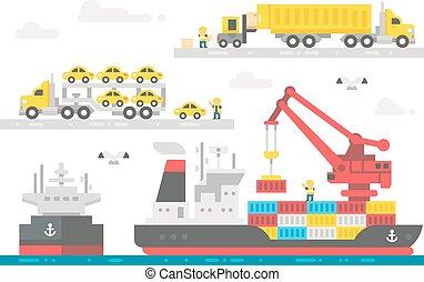 płaski, aktywacja, handlarski, port, projektować