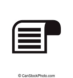 płaski, biały, dokument, czarnoskóry, ikona