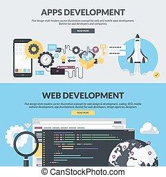 płaski, chorągwie, apps, websites