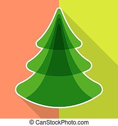 płaski, drzewo, boże narodzenie
