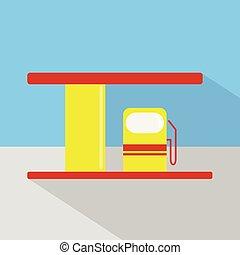 płaski, finanse, komplet, handel, ikony, handel, pojęcia, gaz, promo, ilustracja handlowa, dużo, projektować, sieć, e-handel, internet, wielki, stacja, more., |, ikona