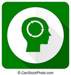 płaski formują główki, ikona, ludzki, znak