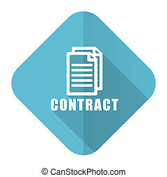płaski, ikona, kontrakt