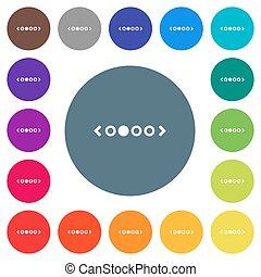 płaski, ikony, kolor, tła, biały, okrągły