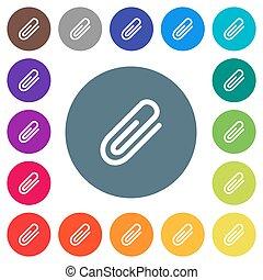 płaski, ikony, kolor, tła, więź, biały, okrągły