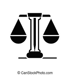 płaski, ilustracja, skalpy, ikona, czarnoskóry, wektor, symbol, glyph, poznaczcie., pojęcie, sprawiedliwość