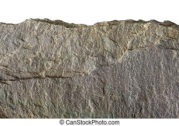 płaski, kamień, ostrze, krocząc, skała, albo