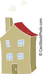 płaski, kolor, ilustracja, od, niejaki, rysunek, dom