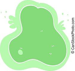 płaski, kolor, styl, rysunek, ameba