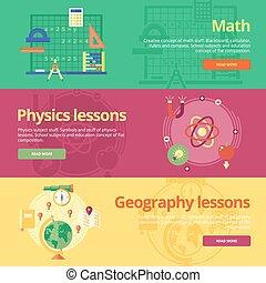 płaski, komplet, geography., sieć, materials., matematyka, projektować, fizyka, pojęcia, druk, chorągwie, wykształcenie