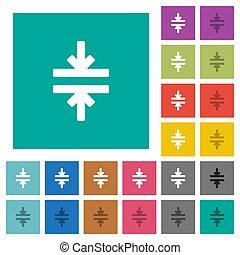 płaski, multi, skwer, barwny, ikony, instrument, wcielać, poziomy