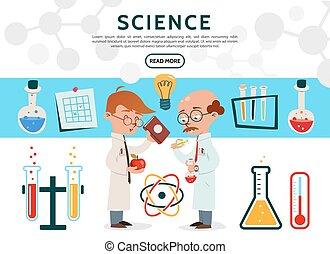 płaski, nauka, ikony, komplet